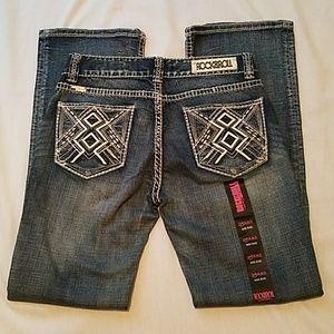 NWT Rock&Roll Cowgirl Woman's Dark Wash Jeans